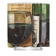 Cabernet Sauvignon Shower Curtain by Debbie DeWitt