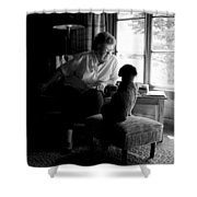 Cabin Chat Shower Curtain by Trever Miller