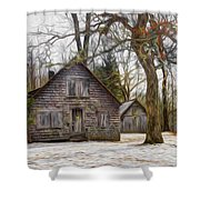 Cabin Dream Shower Curtain by Debra and Dave Vanderlaan