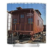 Caboose Shower Curtain by Skip Willits