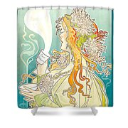 Cacao Van Houten Shower Curtain by Henri Pivat Livemont