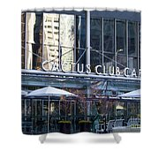 Cactus Club Cafe II Shower Curtain by Chris Dutton