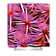 Cactus Pattern 3 Pink Shower Curtain by Amy Vangsgard