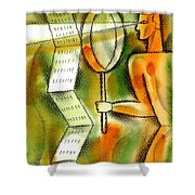 Calculation Shower Curtain by Leon Zernitsky