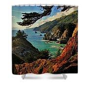 California Coastline Shower Curtain by Benjamin Yeager