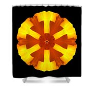 California Poppy Flower Mandala Shower Curtain by David J Bookbinder