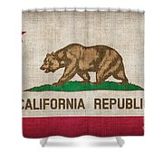 California State Flag Shower Curtain by Pixel Chimp