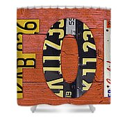 California State Name In License Plates Art Shower Curtain by Design Turnpike