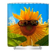 California Sunflower Shower Curtain by Bill Gallagher