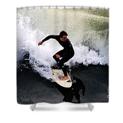 California Surfer Shower Curtain by Catherine Sherman