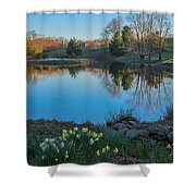 Calm Evening Shower Curtain by Bill  Wakeley