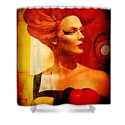 Calypso Mama Shower Curtain by Chuck Staley