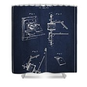 Camera Obscura Patent Drawing From 1881 Shower Curtain by Aged Pixel