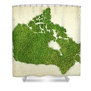 Canada Grass Map Shower Curtain by Aged Pixel