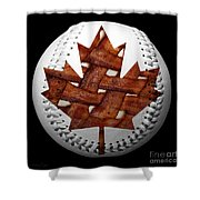 Canadian Bacon Lovers Baseball Square Shower Curtain by Andee Design