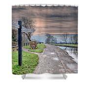 Canal Directions Shower Curtain by Adrian Evans