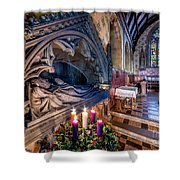 Candles At Christmas Shower Curtain by Adrian Evans