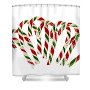 Candy Canes Shower Curtain by Elena Elisseeva