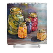 Canning Jars Shower Curtain by Kristine Kainer