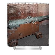 Cannon At San Francisco Fort Point 5d21503 Shower Curtain by Wingsdomain Art and Photography