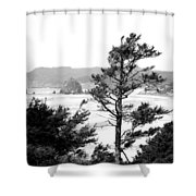 Cannon Beach Shower Curtain by David Patterson