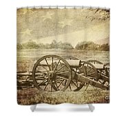 Cannons At Pea Ridge Shower Curtain by Pam  Holdsworth