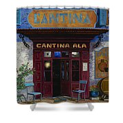 cantina Ala Shower Curtain by Guido Borelli