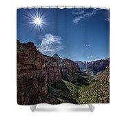 Canyon Overlook Shower Curtain by Jeff Burton