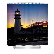 Cape Cod Light Shower Curtain by Bill  Wakeley