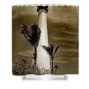 Cape Florida Lighthouse Shower Curtain by Skip Willits