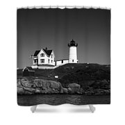 Cape Neddick Light Station Shower Curtain by Mountain Dreams