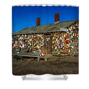 Cape Neddick Lobster Pound Shower Curtain by Susan Candelario