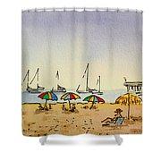 Capitola - California Sketchbook Project  Shower Curtain by Irina Sztukowski