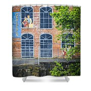 Capitola Cotton Yarn Mill Shower Curtain by Carolyn Marshall