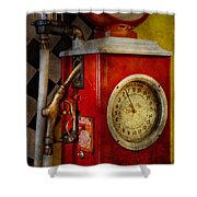 Car - Station - 19 Gallons  Shower Curtain by Mike Savad