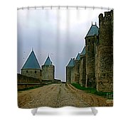 Carcassonne Walls Shower Curtain by FRANCE  ART