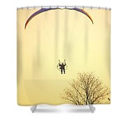 Careful Of That Tree Shower Curtain by Karol  Livote