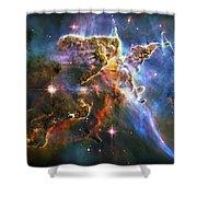 Carina Nebula 6 Shower Curtain by The  Vault - Jennifer Rondinelli Reilly