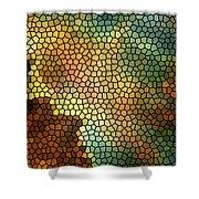 Carina Nebula Mosaic  Shower Curtain by Jennifer Rondinelli Reilly - Fine Art Photography