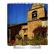 Carmel Mission Shower Curtain by Priscilla Burgers