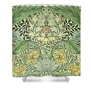 Carnations Design Shower Curtain by William Morris