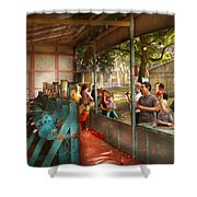 Carnival - Game - A Game Of Skill  Shower Curtain by Mike Savad