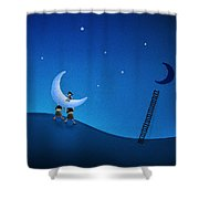 Carry The Moon Shower Curtain by Gianfranco Weiss