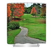 Cart Path Shower Curtain by Frozen in Time Fine Art Photography