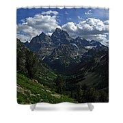 Cascade Canyon North Fork Shower Curtain by Raymond Salani III