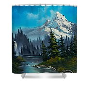Cascading Falls Shower Curtain by C Steele
