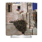 case a Santorini Shower Curtain by Guido Borelli