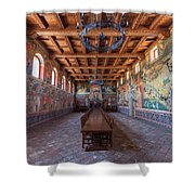 Castelle Di Amorosa Dining Hall Shower Curtain by Scott Campbell