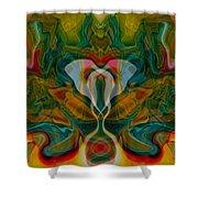 Casting Spells Shower Curtain by Omaste Witkowski