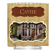 Castle Button Shower Curtain by Mike Savad